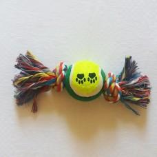 Канат с 2-мя узлами и теннисным мячом  Trixie TR-003