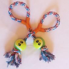 Веревочная перетяжка с теннисным мячом Trixie TR-009